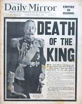 Daily Mirror - King George V Death Announcement - January 21st 1936